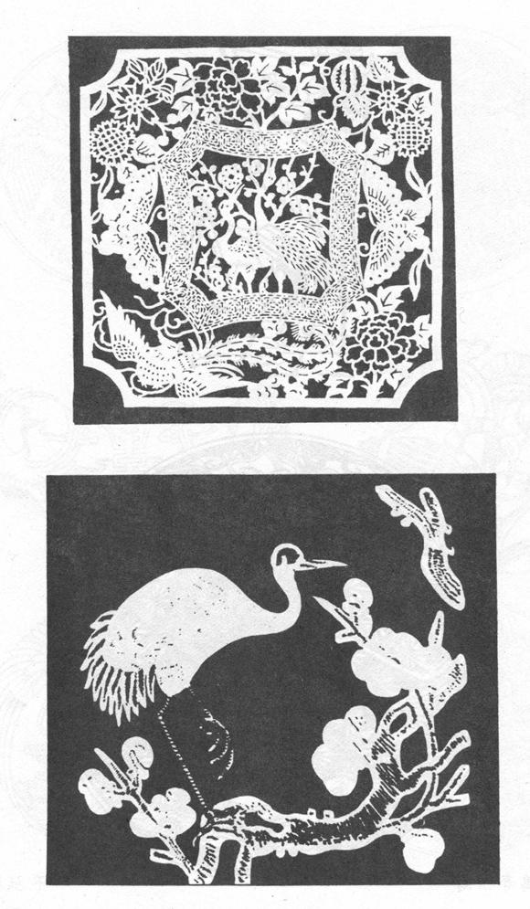 梅花仙鹤纹身手稿